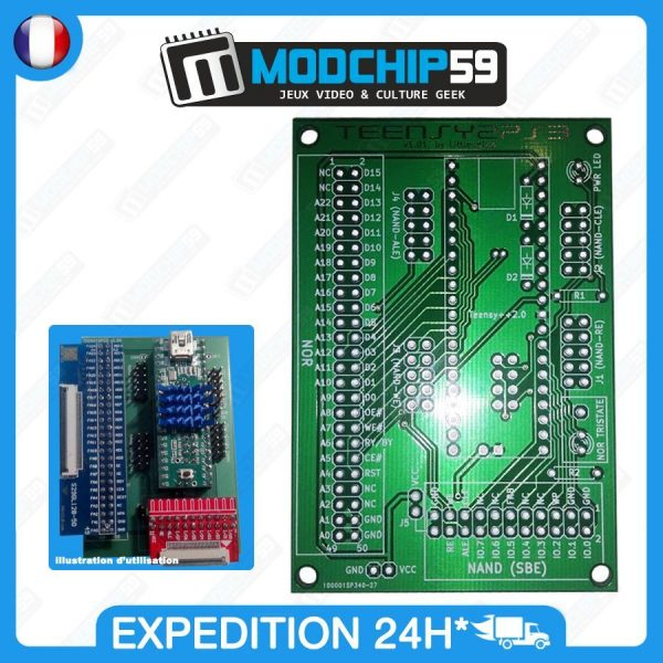 TEENSY2PS3-Adapter-Adaptateur-PCB-pour-Teensy-20-360-NAND-Nor-Clip-QSB-262259922831