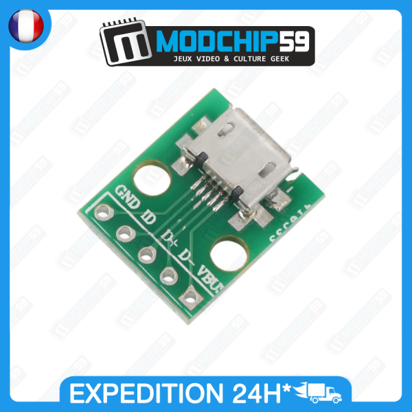 carte-pcb-mini-usb-connecteur-connector-adaptateur-adapter-convertisseur-diy-dip