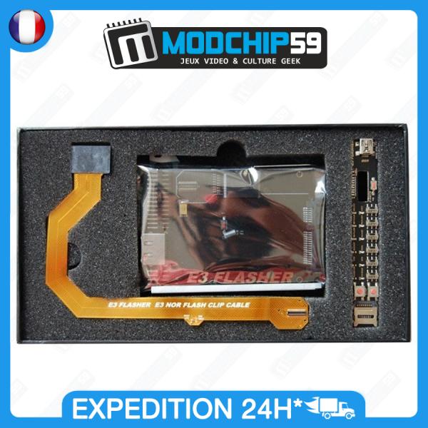 E3 Flasher Micro puce PS3 Jailbreak downgrade 4.80 4.81 4.82 4.83