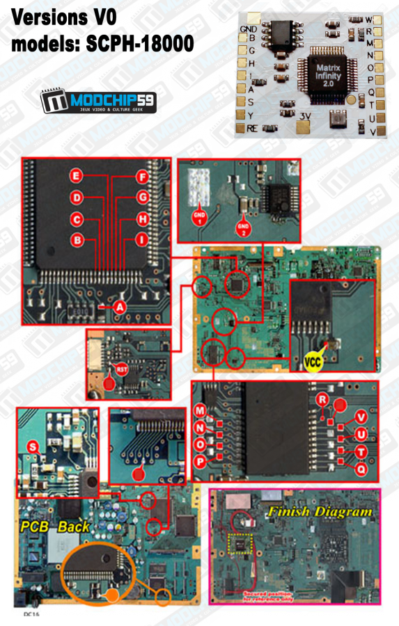 Boutique Modchip59 Puce Matrix Infinity Ps2 Version 20 Playstation 2 Circuit Diagram V0 Scph 18000