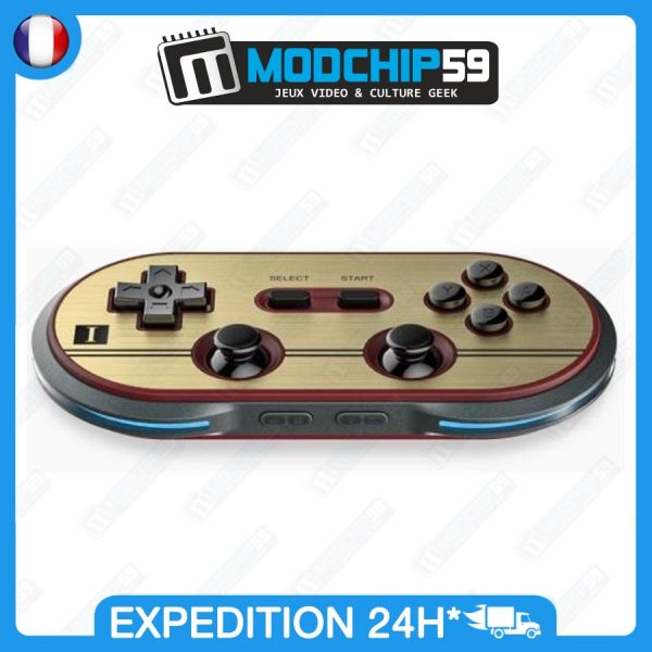 Manette 8bitdo nes30 FC30 pro bluetooth gamepad style retro