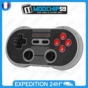 Manette 8bitdo nes30 pro bluetooth gamepad style retro