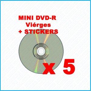 5 Mini DVD R ritek g04 1.4 Go 8 cm vierges compatibles gamecube