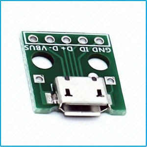 carte pcb Micro USB Type B connecteur connector Adaptateur Adapter convertisseur DIY DIP