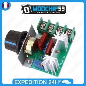 Variateur de vitesse moteur Dimmer AC 220 V 2000 W SCR