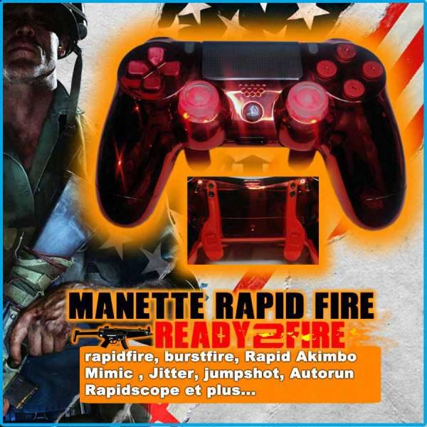 Manette rapid fire ps4 manette ps4 custom TrueFire comme scuf